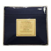 JS Sanders 1500 Series Sheet Set, Full Size, Navy Blue