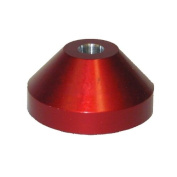 (1) Red Solid Aluminium Vinyl Record Dome Adapter / Insert - Fits Almost Any Turntable! #07MDDARE