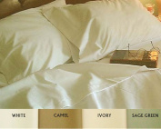 Sheet Set for Airstream Campers 60x75 with curved corners Ivory