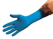 Disposable Gloves, Latex, XL, Blue, PK50