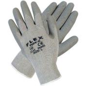 Memphis Glove 127-9688XL Extra Large Flex Tuff Iigray Cotton-Poly Shell 1