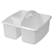 Utility Caddy - Small White Supplies Bucket by Romanoff Products