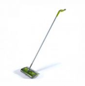 "Sweep & Trap System, 10"" x 8"" Head, 46"" Handle, Green/Silver"