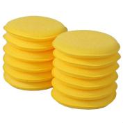 Fancasen 12 x Waxing Polish Wax Foam Sponge Applicator Pads For Clean Car Vehicle Glass