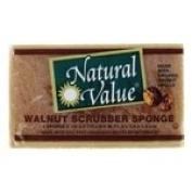 Natural Value Walnut Scrubber Sponge