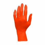 ProWorks GL-N105ORFM Nitrile Exam Gloves, Powder Free, Medium, Orange
