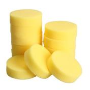 Vktech 12pcs Polish Wax Round Foam Sponges Applicator Pads for Clean Car Glass