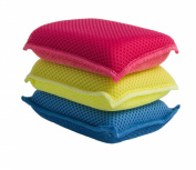 Ultra Micro Fibre Miracle Sponge 3 Pack Blue - Red -Yellow