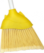 DQB Industries 06078 20cm Household Angled Broom with Flagged Synthetic Tip and 120cm Painted Steel Handle
