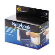 RR1217 Notebook ScreenKleen Pads, Cloth, 2 1/2 x 5 1/4, White, 24/Box