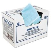 Quix Pretreated Cleaning Towels, Cloth, 13 1/2 X 20, Blue