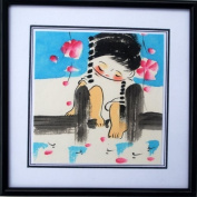 Watercolour Painting - Cherry Blossom Girl