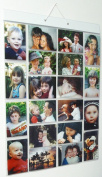 Thinking Gifts Picture Pockets Photo Hanging Display, 40 photos in 20 pockets, Large, Clear, 1 unit