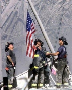 New York Firefighters at Ground Zero - 9/11 Tribute - 8x10 Glossy Photo