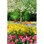 Printed Photography Background colour flowers on garden Titanium Cloth TC1934 Backdrop 1.5mx 1.8m (150cm x 200cm ) Better Then Muslin or Canvas