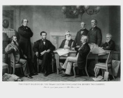 President Abraham Lincoln First Reading of the Emancipation Proclamation - 8x10 Glossy Photo