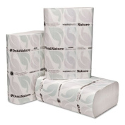 Wausau Paper Dubl-Nature Folded Towels, 1-Ply, White, 9.5 x 9.125 - 48 towels.