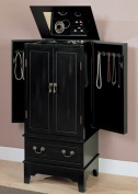 Coaster Five Drawer Jewellery Armoire in Black