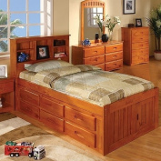 Discovery World Furniture Honey Twin Bookcase Captain's Bed