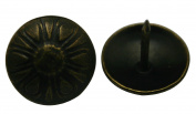 Amanaote Metal 1.7cm Diameter Antique Brass Hardware Upholstery Clavos Decorative Nails Tacks