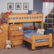 Chelsea Home Twin Over Twin Junior Loft Bed In Cinnamon