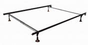 Mantua Heavy Duty Insta-Lock Adjustable Bed Frame with 4 Glides