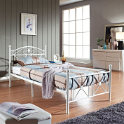 LexMod Country Cottage Iron Twin Bed Frame