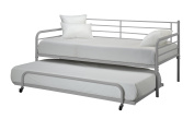 DHP Trundle Bed, Twin, Silver