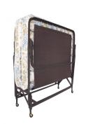 Leggett & Platt Steel 412041 Deluxe Rollaway Twin Poly Deck Bed Frame with Foam Mattress