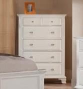 Roundhill Furniture Laveno 012 White Wood 5-Drawer Chest