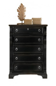 American Woodcrafters 2900-150 5-Drawer Chest, Heirloom Black