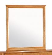 Angular Dresser Mirror w Medium Oak Tone