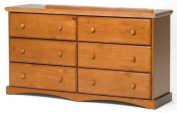 Chelsea Home 6 Drawer Dresser In Honey