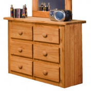 Chelsea Home Mini 6 Drawer Dresser In Ginger Stain