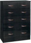 HODEDAH IMPORT 5-Drawer Chest, Black