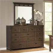 Riverside Furniture Promenade 10 Drawer Dresser in Warm Cocoa