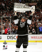 Dustin Brown - holding Stanley Cup Trophy - 2012 NHL Stanley Cup 8x10 Photo