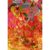 Printed Photography Background red painted heart Titanium Cloth TC162 Backdrop 1.5mx 1.8m (150cm x 200cm ) Better Then Muslin or Canvas