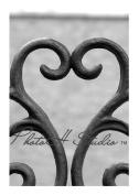 Heart 3 Alphabet Art Print 10cm x 15cm by Phot Oh Studio