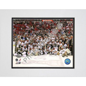 Photo File Pittsburgh Penguins 2009 Stanley Cup Champions Game 7 Celebration 8x10 Matted Photo