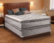 Hollywood Coil Comfort Double Sided Pillowtop Queen Size Mattress and Box Spring Set