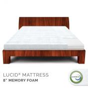 LUCID® by Linenspa 20cm Firm Memory Foam Mattress - 100% CertiPUR Foam - 25-Year Warranty