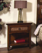 Sunny Designs American Prairie Night Stand with Nite Light, Nutmeg Finish