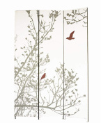 Nexxt by Linea Bota Triple-Panel Floor Screen, Red and Taupe