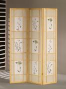 ADF 5442 3-Panel Shoji Screen with Natural Finish Frame