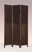 ADF 3-Panel Wood Room Divider in Espresso Finish