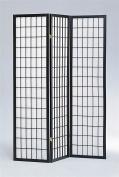 ADF 3-Panel Shoji Screen with Black Finish Frame