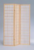 ADF 3-Panel Shoji Screen with Natural Finish Frame