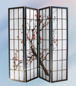 ADF 4-Panel Paper Screen with Plum Blossom