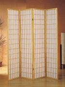 ADF 4-Panel Shoji Screen with Natural Finish Frame